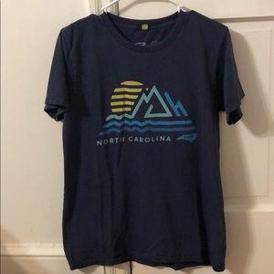 North Carolina home graphic short sleeve t-shirt